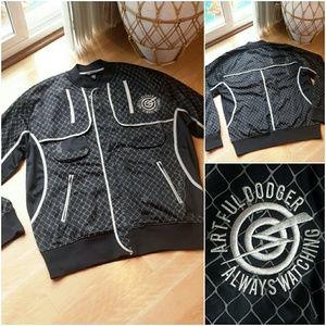 ARTFUL DODGER | Graphic Print Zip Jacket
